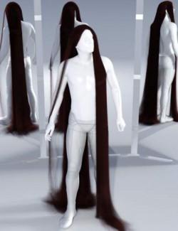 dForce Floor Length Hair for Genesis 8