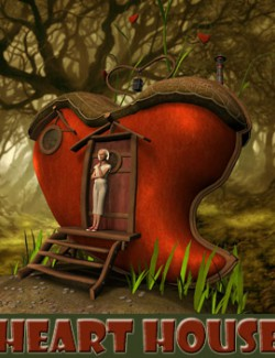 Heart house for Daz Studio