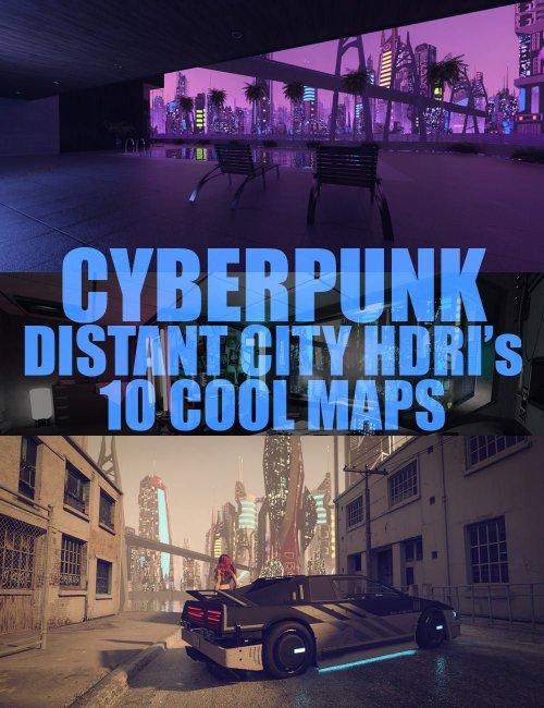 Cyberpunk Distant City HDRIs - 10 Cool Maps