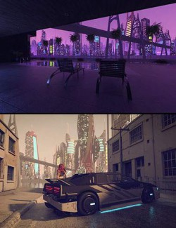 Cyberpunk Distant City HDRIs - 10 Cool Maps
