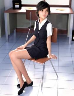 dForce Clerk Outfit for Genesis 8 Females