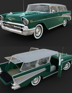 CHEVROLET NOMAD 1957 for DAZ Studio