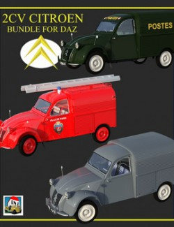 2CV FOURGONNETTES BUNDLE for DAZ