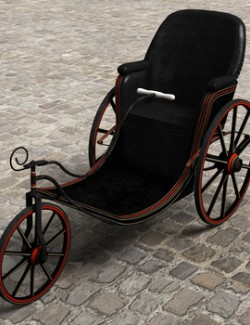 Victorian Bath Chair for Poser