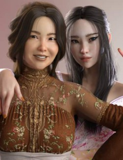 Lian and Hanako Zhao HD for Genesis 8 Female
