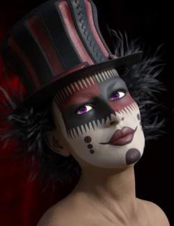 Elvira for Genesis 8 Female and Harlequin L.I.E. Make Up