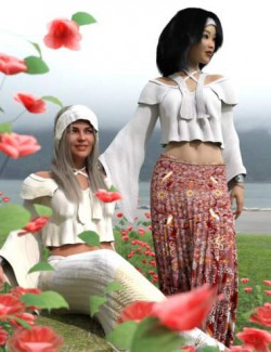 dForce Flower Girl Outfit for Genesis 8 Females