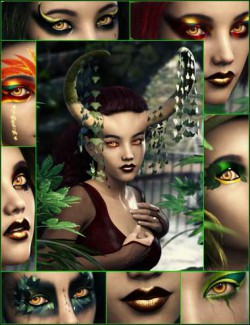 Arcane Enchantress Geoshell Makeups for Genesis 3 and 8 Female