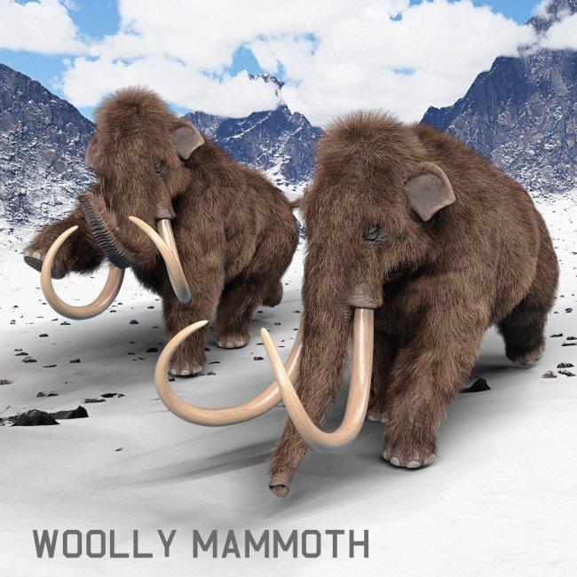 Woolly Mammoth for Daz Studio
