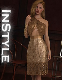 InStyle - JMR dForce Amelia Long Dress for G8F
