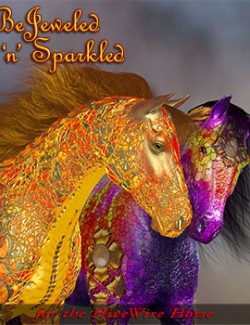 FL-RD Bejeweled-n-Sparkled for the HW Horse