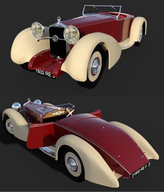 DELAGE D8S 1932 for DAZ
