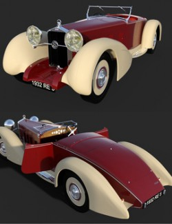 DELAGE D8S 1932 for DAZ