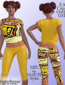EA Capri Outfit ABSTRACTS Mix-n-Match Styles for Genesis 8 Female
