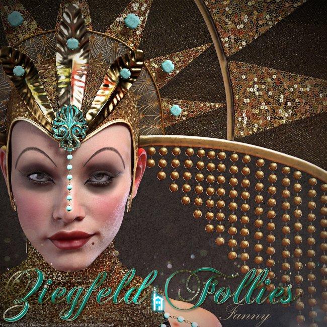 FANNY1920s Ziegfeld Follies Headdress & Collar Set