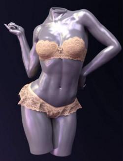 X-Fashion Sheer Lace Lingerie Genesis 8 Female