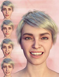 PTF Loves Me- Loves Me Not Expressions for Genesis 8.1 Female