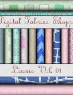 Digital Fabric Shoppe- Linens Vol 01