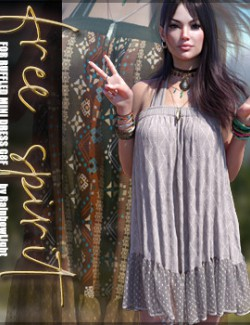 Free Spirit for dForce Ruffled Mini Dress G8F