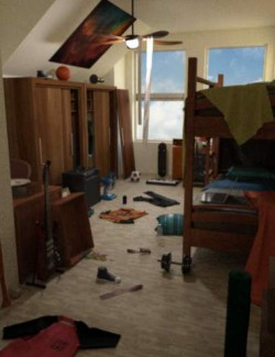 FG Cluttered Dorm