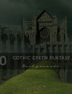 Gothic Green Fantasy Backgrounds