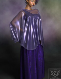 Dynamic Evening Gown and Drape for Dawn and Victoria 4