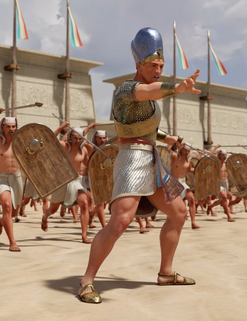 Pharaoh At War Characters and Outfit for Genesis 8 Male