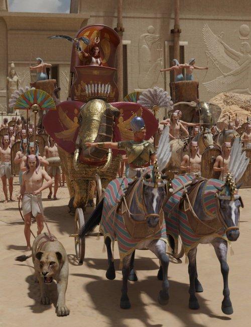 Pharaoh At War Weapons Props and Poses