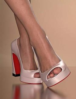 Fashion Basics: Paris Runway Heels for Genesis 8.1 Female and Victoria 8.1