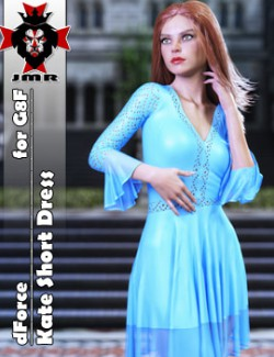 JMR dForce Kate Short Dress for G8F
