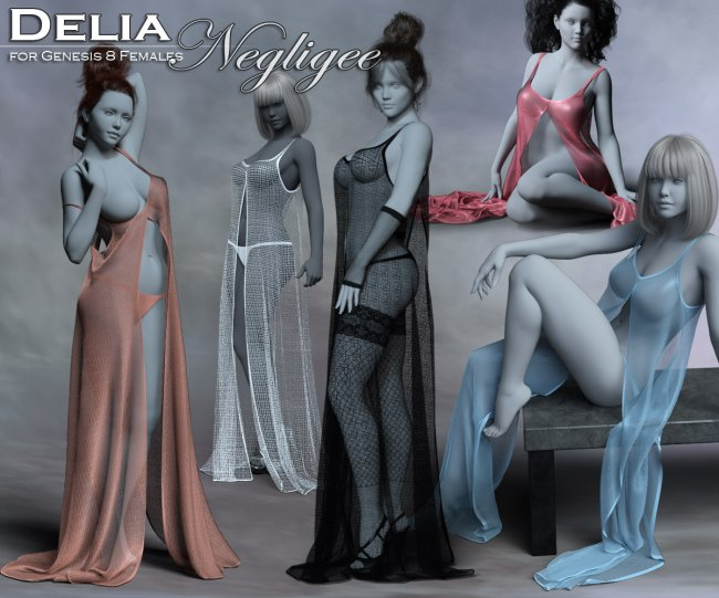 Delia Negligee for the Genesis 8 Female