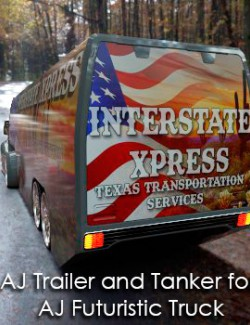 AJ Trailer and Tanker for Futuristic Truck