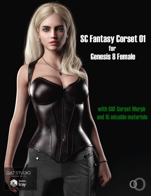 SC Solo Fantasy Corset 01 for Genesis 8 Female