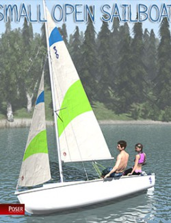 Small open sailboat for Poser