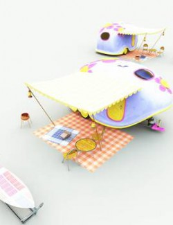 TB Toon Picnic Camper for Poser