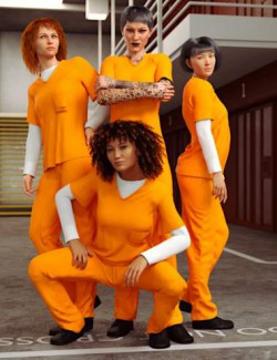 dForce Prison Inmate Clothing for Genesis 8 and 8.1 Females