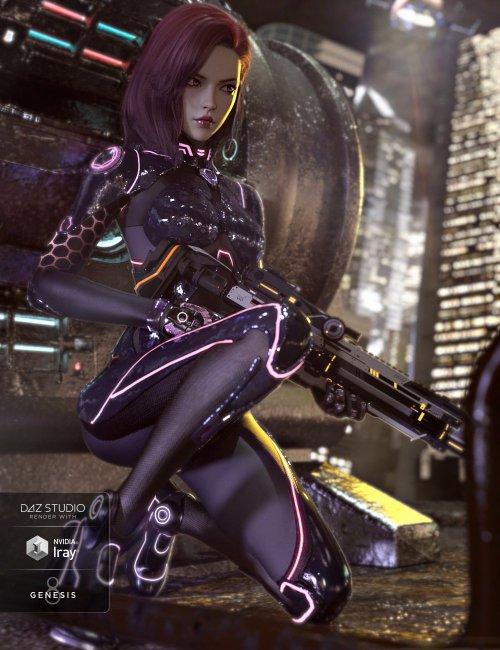 CR Sci-fi Suit for Genesis 8 Females