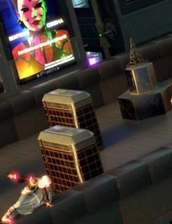 Compact Cyberpunk Apartment Building