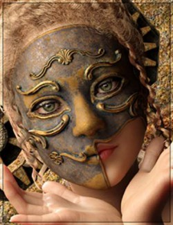 CyberSteampunk Accessories - The Mask for Genesis 8 Female