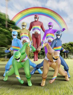 Rainbow Ranger Outfit for Genesis 8 and 8.1