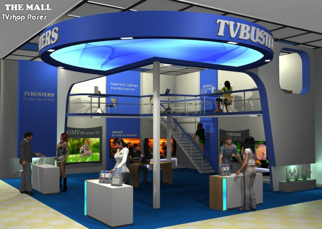 The Mall TVshop poses