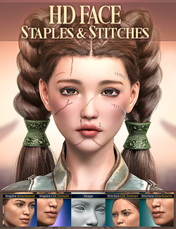 HD Face Staples and Stitches for Genesis 8 Females