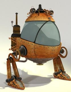 TB Toon Steampunk Mech Bot for Poser