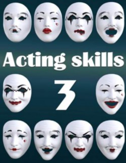 Acting Skills 3 for Genesis 8 and 8.1 Females