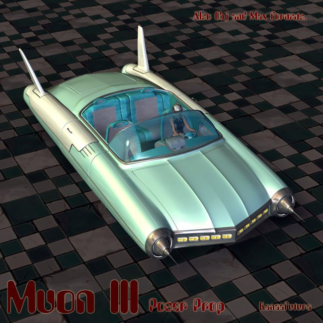 Muon III - Flying Car for Poser