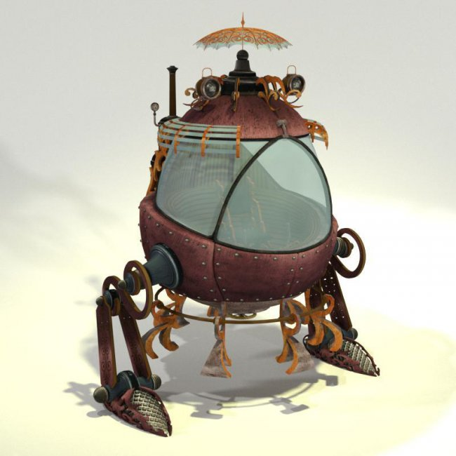 MB Toon Steampunk Mech Bot for Poser