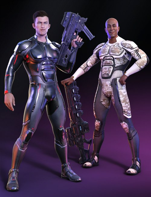 OMNI Suit for Genesis 8 and 8.1 Male Outfit Textures