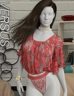 VERSUS- dForce Flowing Sleeves Bodysuit for Genesis 8 and 8.1 Female(s)