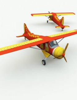 TB Toon Airplane for Poser