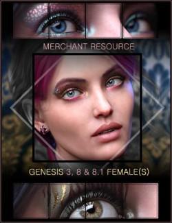 Nude Metallics Eyeshadow Builder Genesis 8 Females Merchant Resource